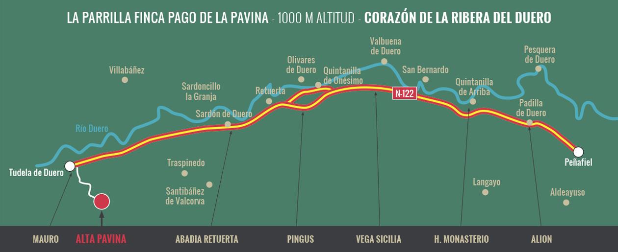 Mapa Bodegas Alta Pavina